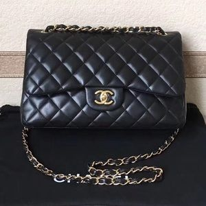 Chanel Large Classic Double Flap Lamb Skin